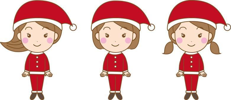 Santa Claus 3 people