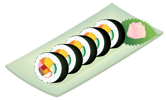 Nori roll, thick roll