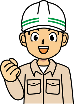 Civil engineering man in front of one hand