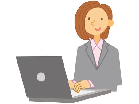 パソコン_女性