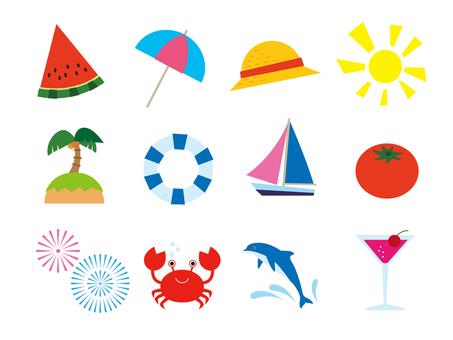 Summer material illustration
