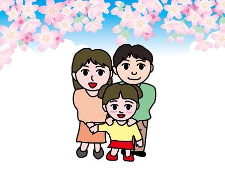父母和孩子的四季(1)春天的櫻花