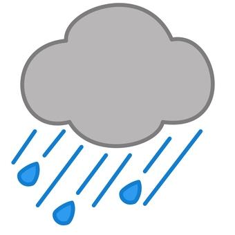 Heavy rain mark
