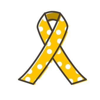 Yellow polka dot ribbon