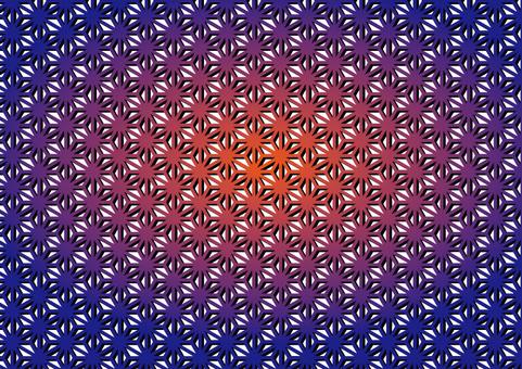 Japanese pattern (hemp leaf) 8