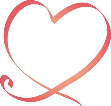 Heart ribbon pink