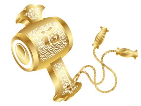 New Year material golden launch gem