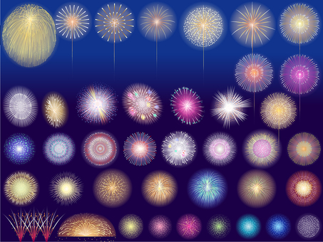 ai summer festival poetry fireworks 40 point set