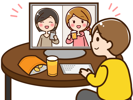 Online drinking party 01
