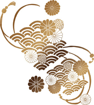 Chrysanthemum pattern (gold · astringent)