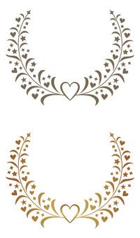 Laurel and heart frame