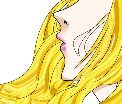 """Beautiful woman's mouth """"long-haired blonde 2"""""""