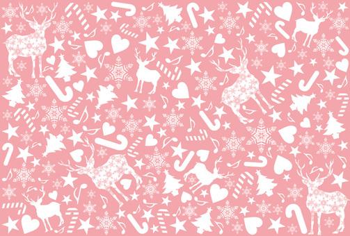 聖誕圖案粉紅色