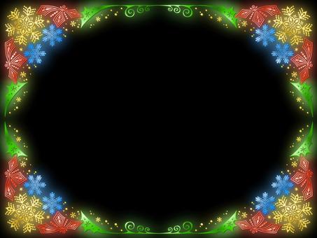 Glitter frame for Christmas