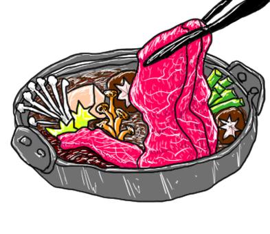 Japanese food Sukiyaki