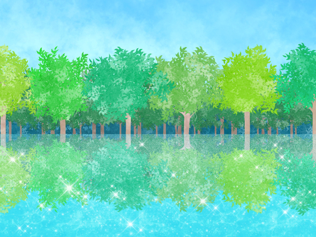 Trees and lakes