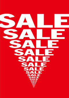 Prosperous business! SALE poster (red)