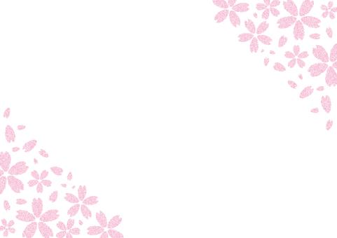 벚꽃 프레임 (상하)
