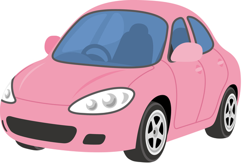 Car sedan pink