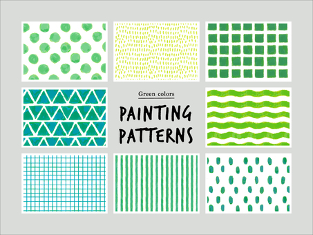 Green hand-painted pattern
