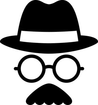 Gentleman's face hat