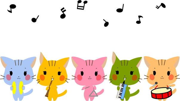 고양이 5 마리에서 음악회 2