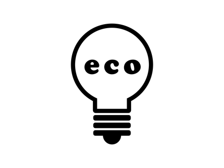 Light bulb eco silhouette black and white