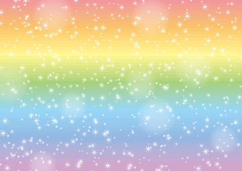 Rainbow color glitter