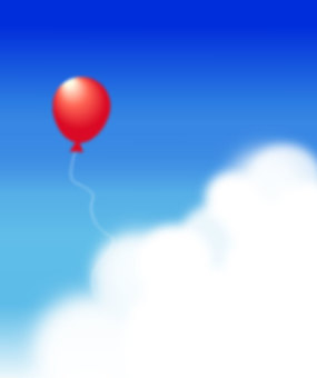 Sky and balloons (vertical)