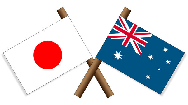 標誌日本×澳大利亞