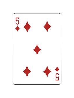 撲克牌鑽石5