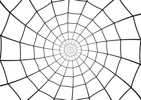 シンプルな蜘蛛の巣のシルエット