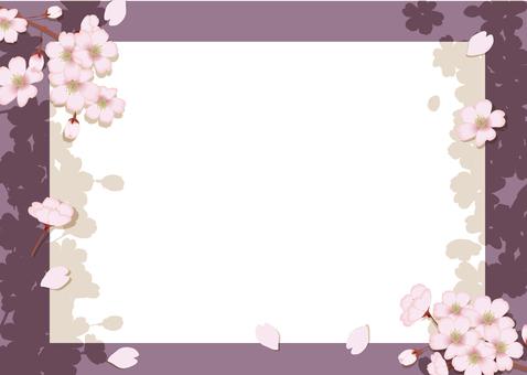 Spring cherry frame 10