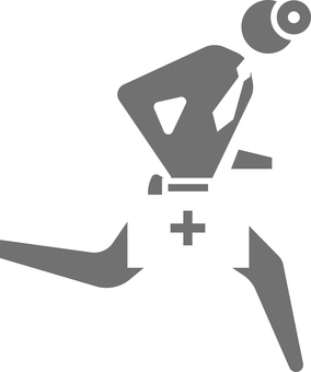 Running doctor icon