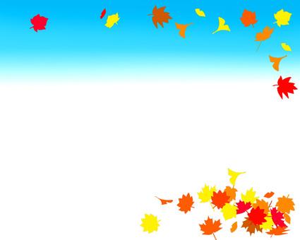 Autumn decorative frame