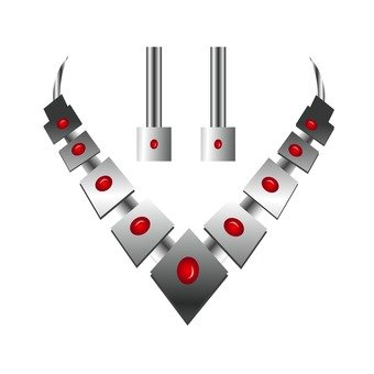 設置項鍊和耳環