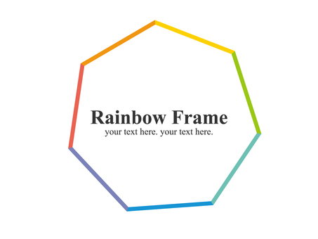 Colorful iridescent frame