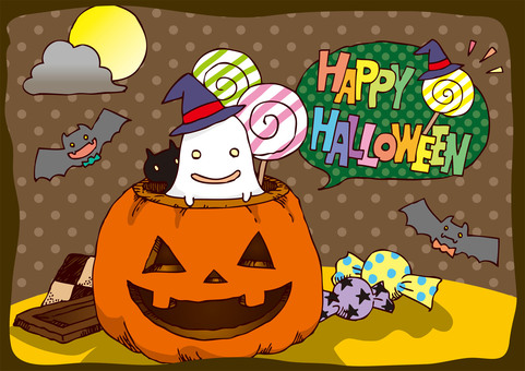 Hand-painted Halloween 2