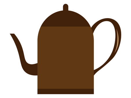 Brown coffee pot