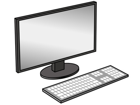 PC operation (105) monitor and keyboard