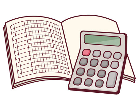 Calculator and books
