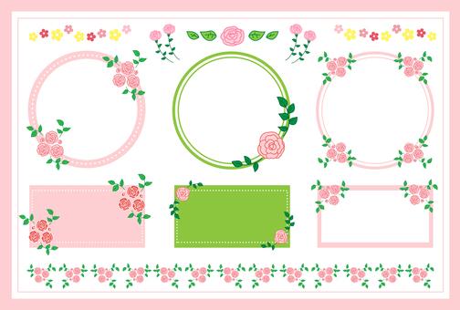 Material set of roses