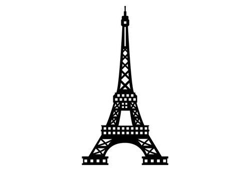 Precise Eiffel Tower silhouette