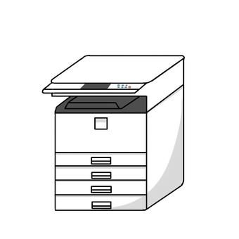 会社などで使うコピー機印刷機のイラスト