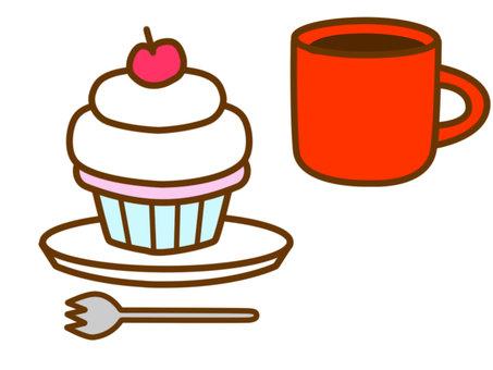 케이크 커피