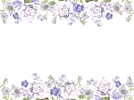Flower frame 194 - summer flower, decorative frame