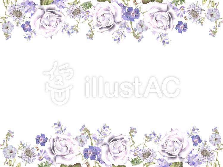 花枠194夏の花飾り枠フレームイラスト No 814272無料