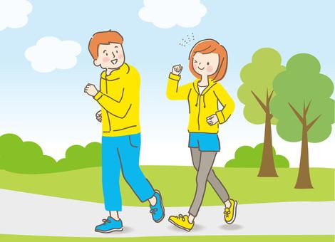 Walking couple 8