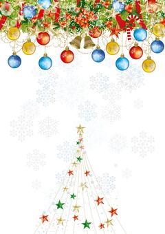 Christmas wreath & snow 28