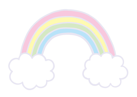 Pastel color rainbow